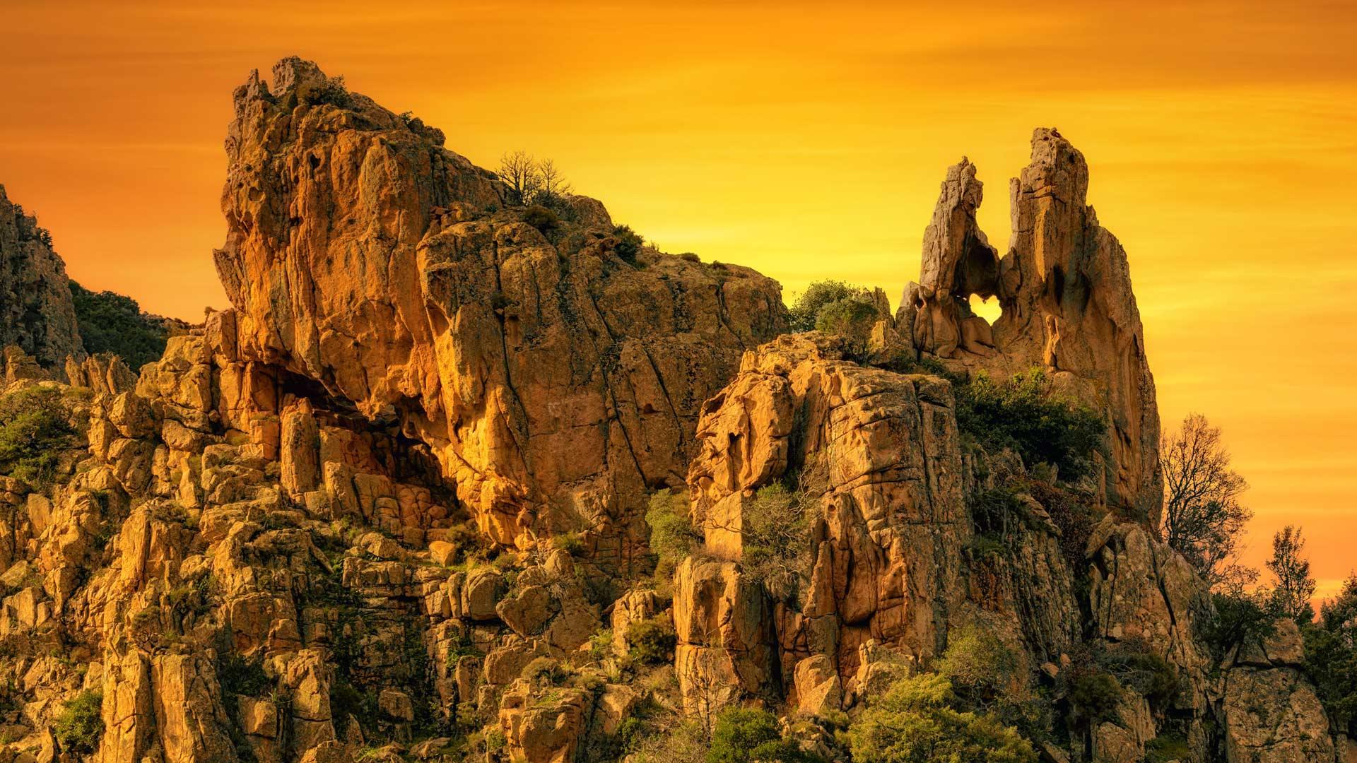 「ピアナのカランケのハート岩」フランス, コルシカ島
