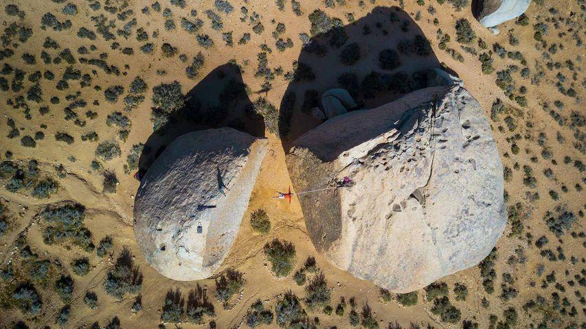 「バターミルクの巨岩」米国カリフォルニア州, ビショップ
