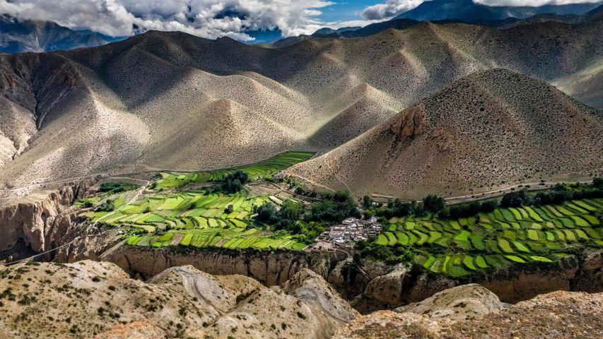 「ジャカール村」ネパール, ムスタン