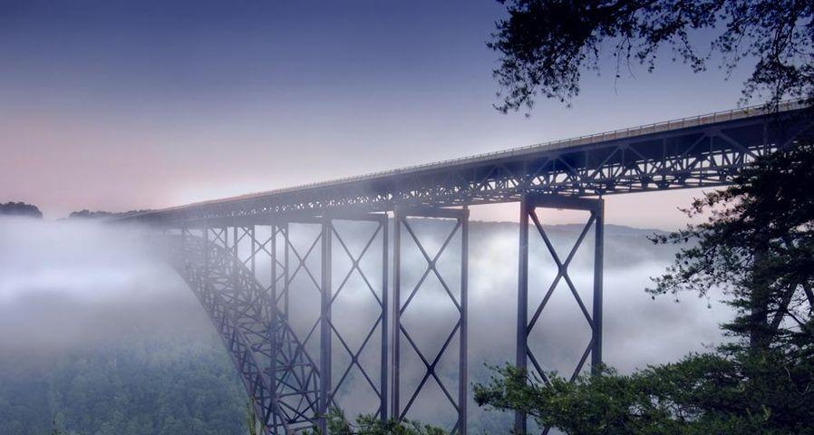 「ニュー川渓谷橋」アメリカ, ウエストバージニア州