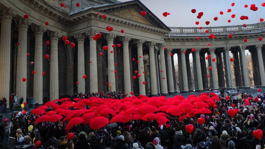 「国際女性デーのセレモニー」ロシア, サンクトペテルブルク