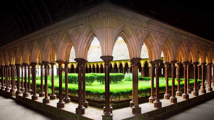 「モンサンミッシェル修道院」フランス,ノルマンディー地方