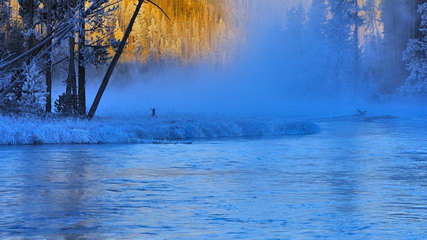 「ファイアホール川」アメリカ, ワイオミング州