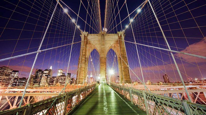 「ブルックリン橋」アメリカ, ニューヨーク州