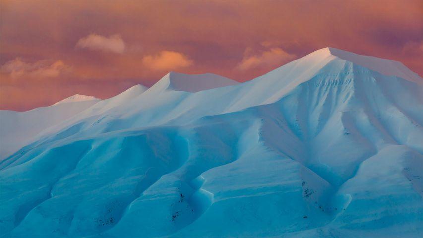 「ハルウィル山」ノルウェー, スピッツベルゲン島