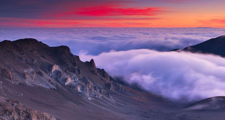 「ハレアカラからの眺め」ハワイ, マウイ島