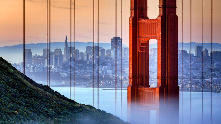 「ゴールデン・ゲート・ブリッジ」米国カリフォルニア州, サンフランシスコ