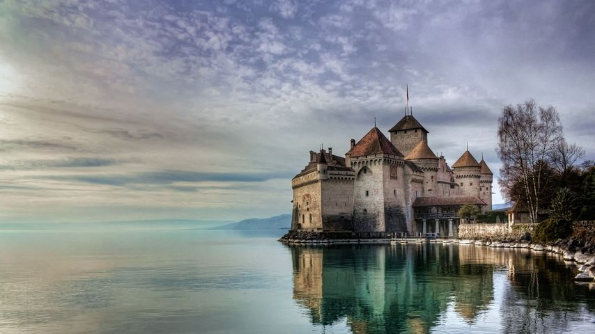「シヨン城」スイス, モントルー
