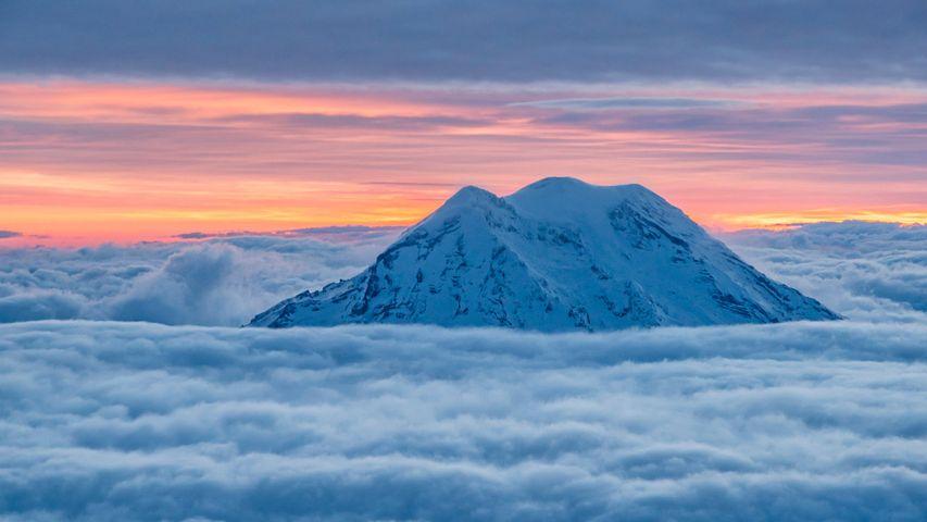 「レーニア山」米国ワシントン州