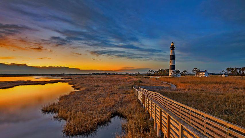 「ボディー・アイランド灯台」米国ノースカロライナ州, アウターバンクス