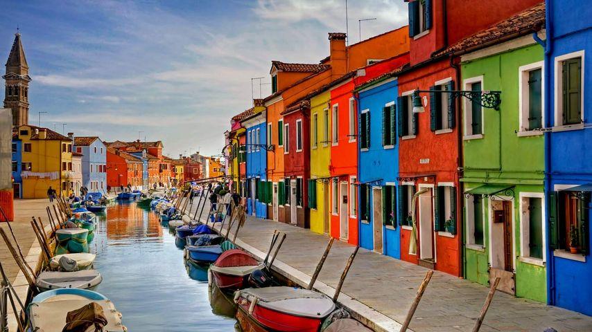 「ブラーノ島」イタリア, ヴェネツィアの潟