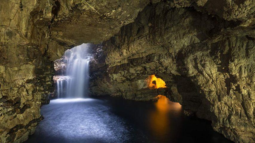 「スムー洞窟」イギリス, スコットランド