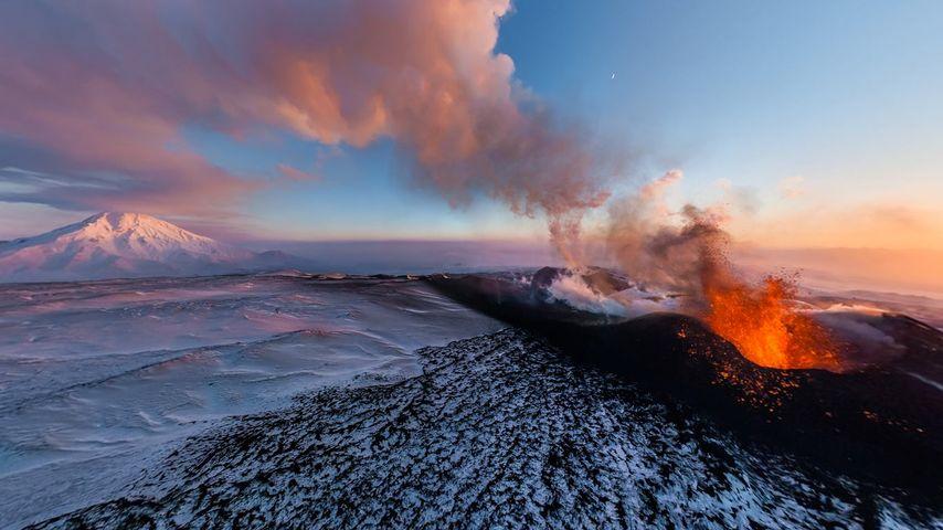 「トルバチク山の噴火」ロシア, カムチャツカ半島