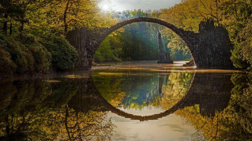 「ラコッツ橋」ドイツ, ザクセン州