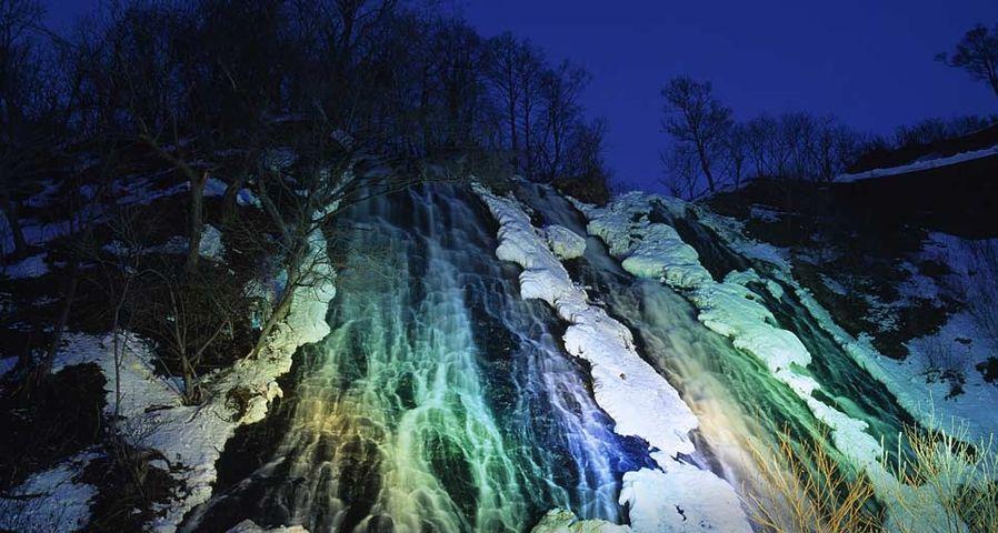 「オシンコシンの滝」北海道, 斜里町