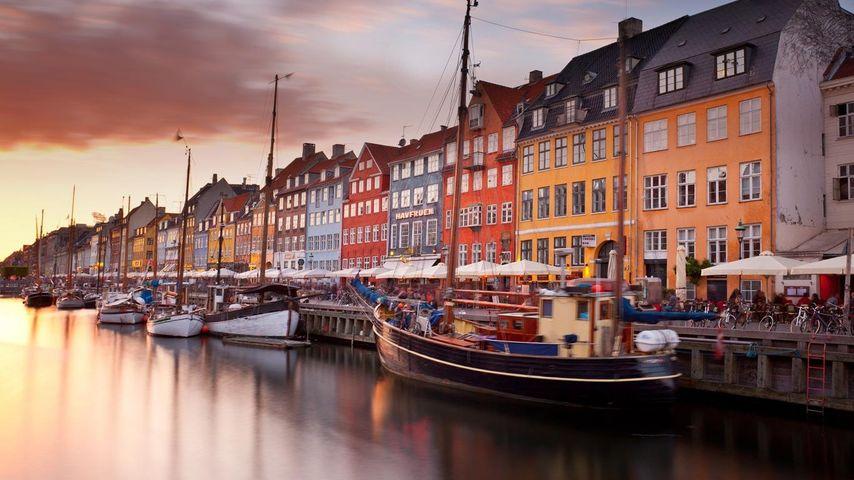 「ニューハウン運河」デンマーク, コペンハーゲン