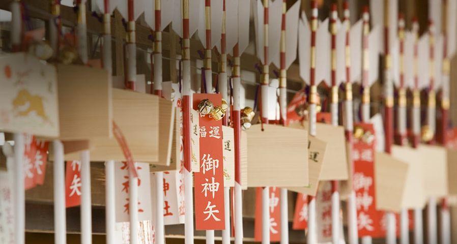 「八坂神社の破魔矢」京都, 東山, 祇園