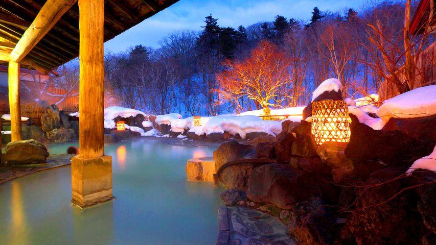 「雪の松川温泉」岩手, 八幡平市