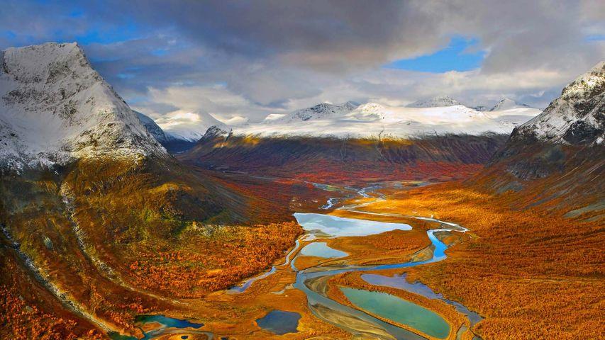 「ラパ川渓谷」スウェーデン, サーレク国立公園