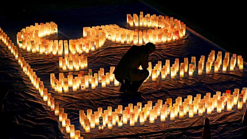 「東日本大震災追悼のキャンドル」広島