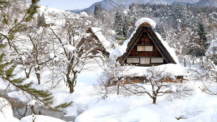 「雪の白川郷」岐阜