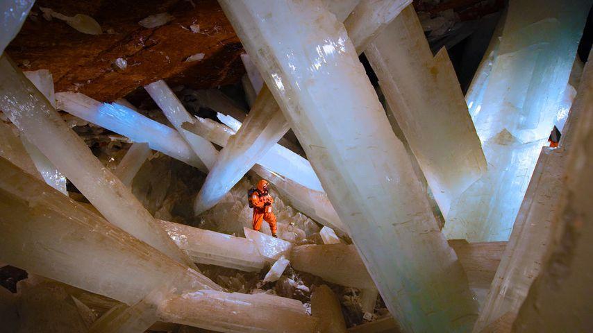 「クリスタルの洞窟」メキシコ, ナイカ鉱山