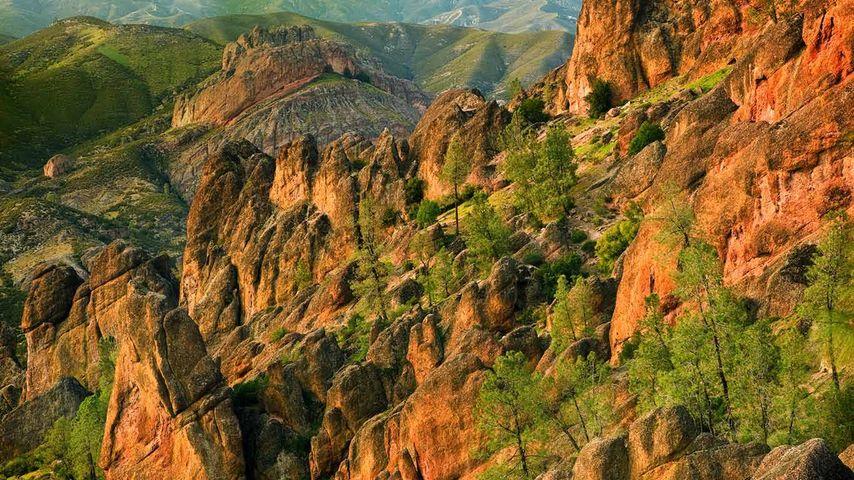 「ピナクルズ国立保護区」アメリカ, カリフォルニア州