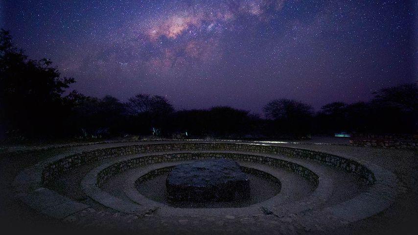 「ホバ隕石と星空」ナミビア, グルートフォンテイン