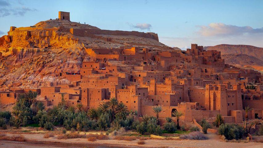 「アイット=ベン=ハドゥの集落」モロッコ, ワルザザート