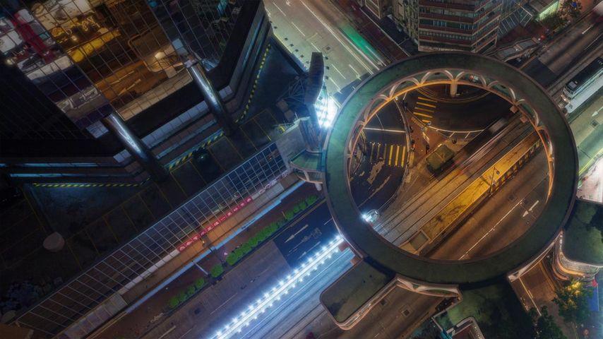 「湾仔の街角」中国, 香港
