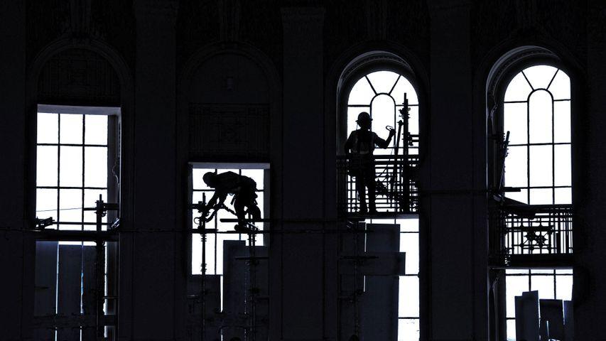 「アメリカ合衆国議会議事堂の修理」米国, ワシントンD.C.