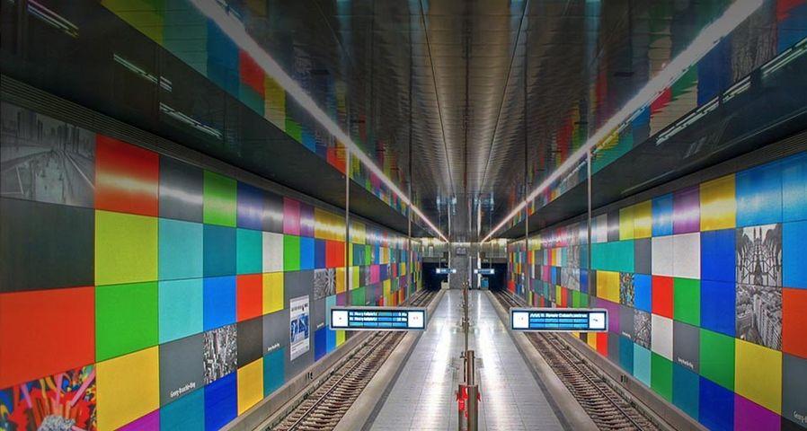 「ゲオルク・ブラウレ・リング駅」ドイツ, ミュンヘン
