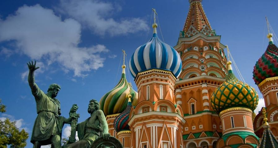 「聖ワシリイ大聖堂」ロシア, モスクワ