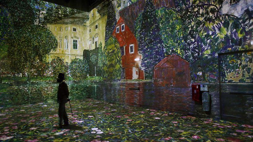「アトリエ・デ・リュミエールのクリムト展」フランス, パリ