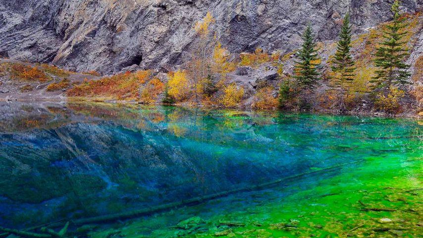 「グラッシー湖」カナダ, アルバータ州