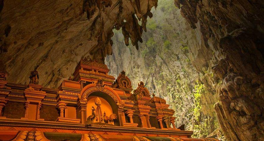 「バトゥ洞窟のヒンドゥー寺院」マレーシア, クアランプール