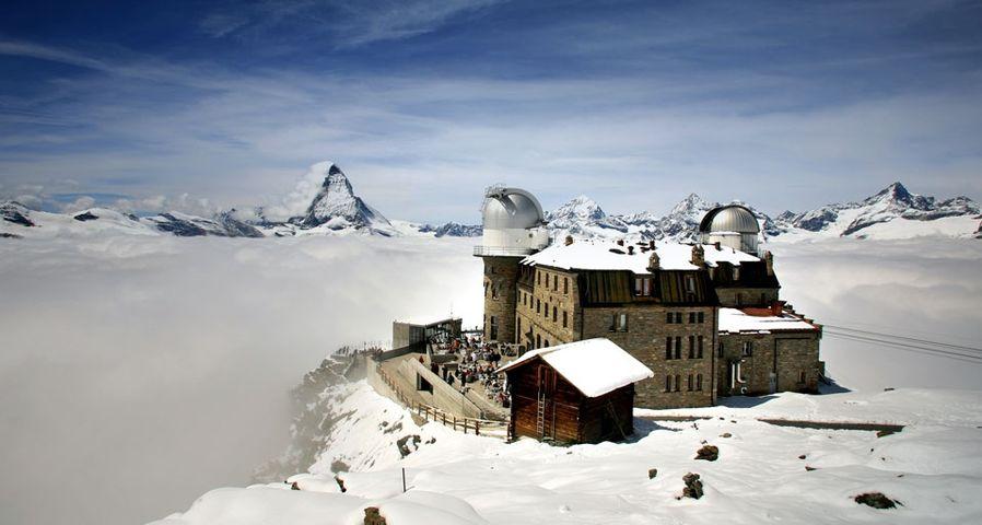 「ゴルナーグラートの天文観測所」スイス, ペンニン・アルプス