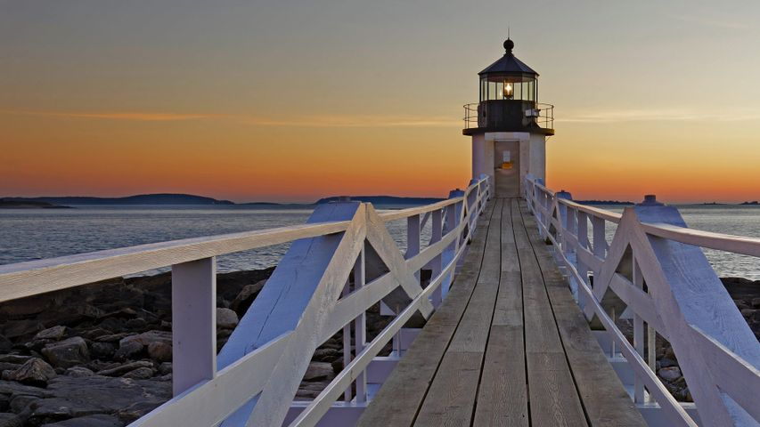 「マーシャル・ポイント灯台」米国メイン州, ポート・クライド