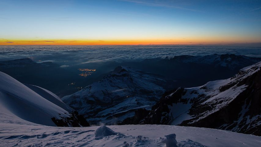 「ベルニーズアルプス」スイス