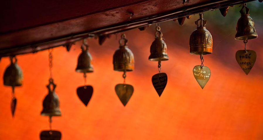「お寺の鐘」タイ, チェンマイ