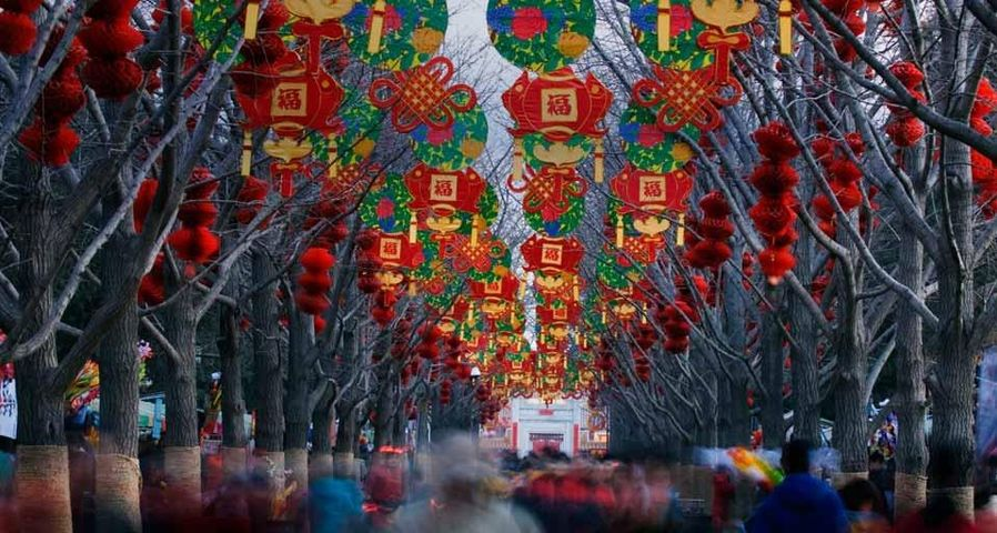 「春節の地壇」中国, 北京