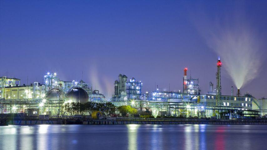 「夜の川崎港」神奈川, 川崎