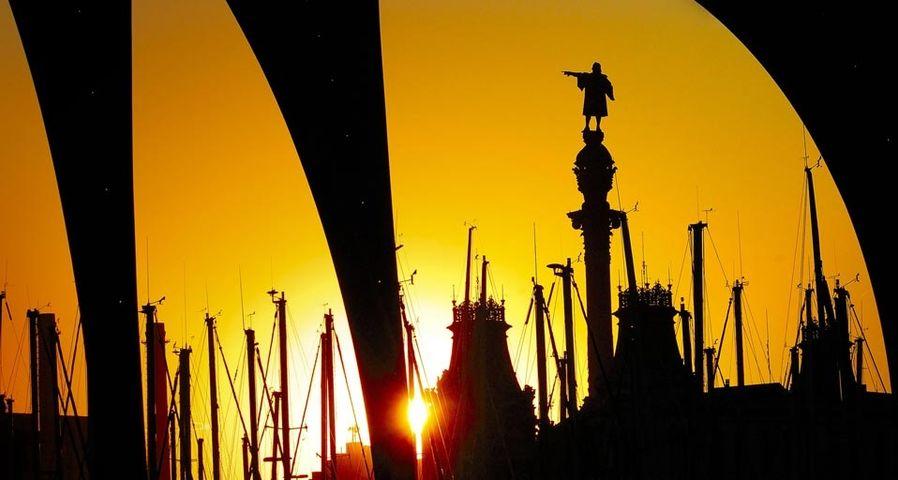 「コロンブス記念塔」スペイン, バルセロナ