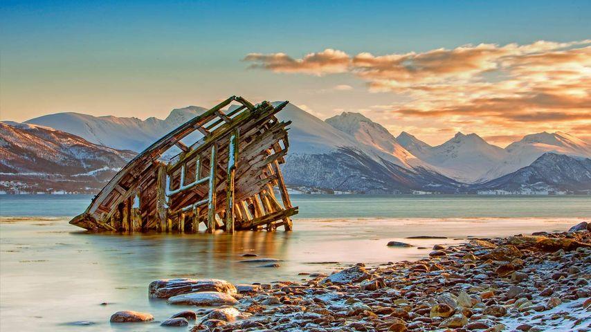「ヴァイキングの難破船」ノルウェー, トロムソ