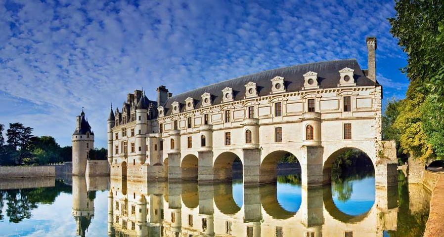 「シェール川とシュノンソー城」フランス, ロワール渓谷
