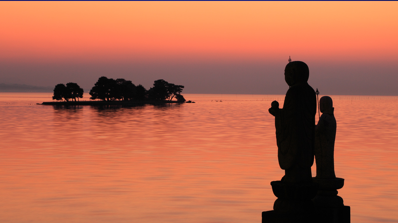 都市森林_「嫁ヶ島と袖師地蔵」島根, 松江市 ・ Bing日替わり画像