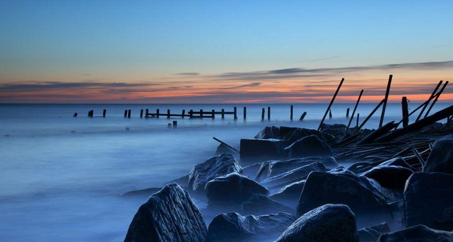 「ヘイズブラの海岸」イギリス, ノーフォーク