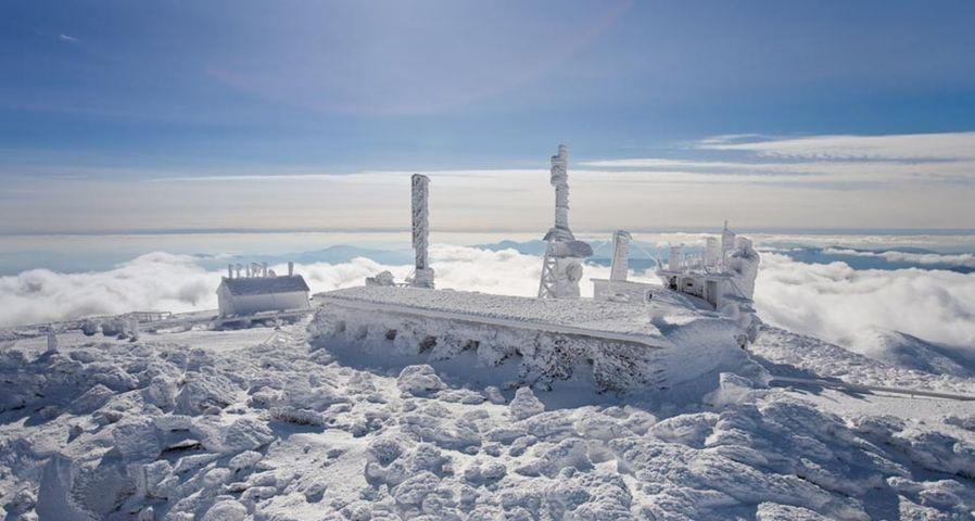 「ワシントン山頂の気象観測所」アメリカ, ニューハンプシャー州