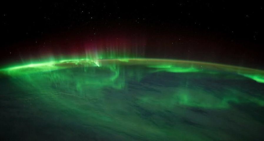 「南極光」南インド洋上空