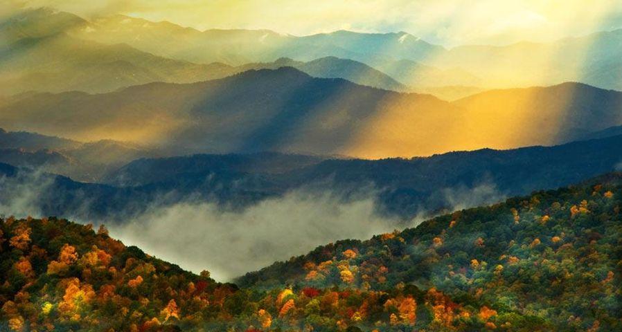 「グレート・スモーキー山脈国立公園」アメリカ, ノースカロライナ州